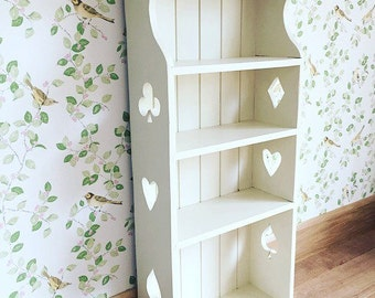 SOLD Pine Dresser Top, Wall Hanging Shelves, Shabby Chic Painted Wall Shelves, Vintage Painted Wall Shelves, Cottage Shelving, Painted She