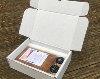 Gift Set End Grain Onion Board Oak / Wooden / Gift / Handmade  / Present / Cutting Board / Solid Wood / Food / Gift ideas / Kitchen / Garlic