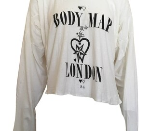 Bodymap 1984 Irregular Fit T Shirt Punk London Small