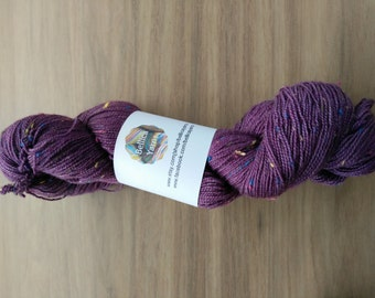 Deep purple Donegal 4Ply yarn