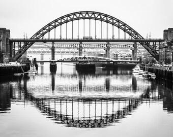 Newcastle/Gateshead The Bridges Photographic print