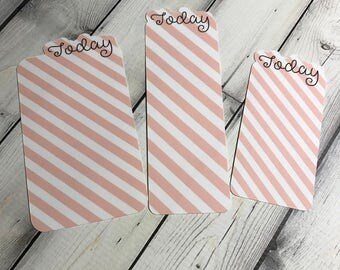 Today Planner Bookmark Pink Stripes