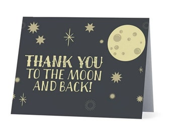 THANK YOU to the MOON and Back   |  Thank You Card