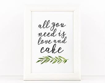 Printable wedding sign, Cake sign, Printable party sign, Wedding cake print, Wedding signage, DIY wedding, Wedding decor, DIY Party decor