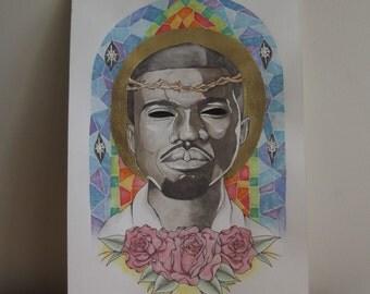Yeezus Kanye West Religious Illustration
