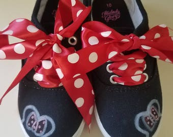 Disney Minnie Mouse Kids shoes hand painted