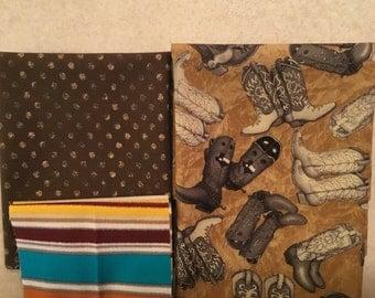 Texas Boots Pillowcase Kit  100% Cotton Fabrics
