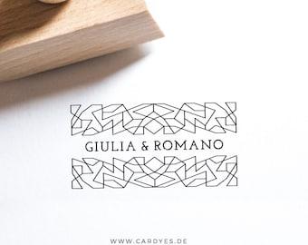 Wedding Stamp • Wedding logo • DIY wedding • Wood stamp which a handle