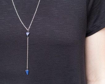 Y Necklace // Lariat Necklace // Lapis Lariat