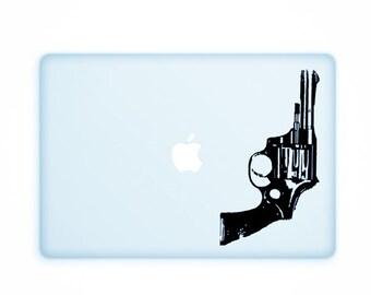 "Warhol ""Revolver"" Decal - Andy Warhol, Gun, Vinyl Decal, Wall Sticker, Warhol Print"