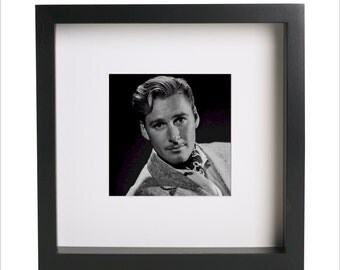 Errol Flynn photo print | Use in IKEA Ribba frame | Looks great framed for gift | Free Shipping | #1