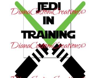 Jedi in Training SVG Cricut Silhouette