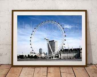 London Eye Prints, Wall Art Poster, Wall Art Decor, Wall Art For Office, Wall Art For Living Room, Wall Decor For Men, Wall Art Canvas