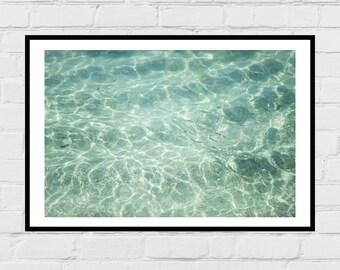 Ocean water digital photo print - summer, beach, printable poster, digital download, home decor
