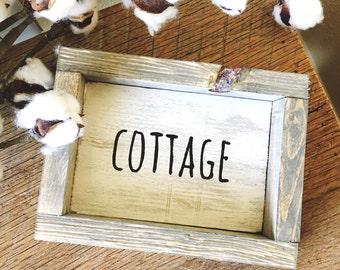 Cottage farmhouse sign