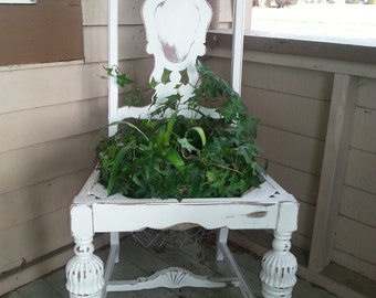 Vintage White Garden Chair.