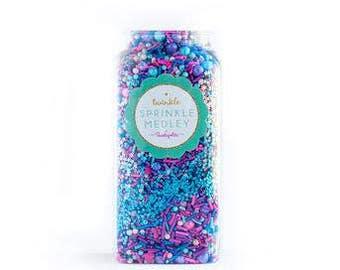 Sweetapolita Princess Rainbow Twinkle Sprinkle Mix 8 oz