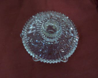Vintage Pressed Glass Taper Candle Holder, Ring Holder, FREE SHIPPING Z7 C02