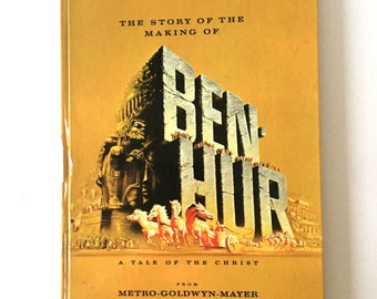 "1959 ""The Story of the Making of BEN HUR"" Hardback Hollywood Movie Book"