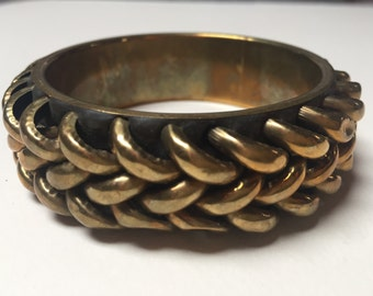 Vintage brass bangle