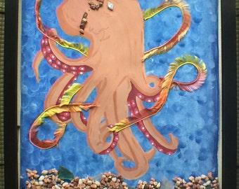 Below Sea Level Octupus Painting