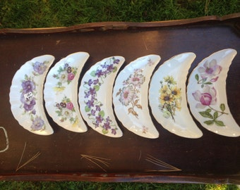 flower snack plates (set of 6)