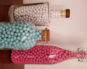 Baby Shower Decorations - Sixlets Bottles