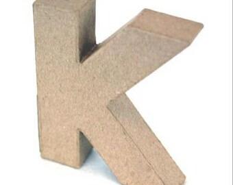 3D Papier Mache Designs/Paper Shapes 10cm/4inch Capital Alphabet Letters, 2cm/6/8inch thick freestanding art to decorate