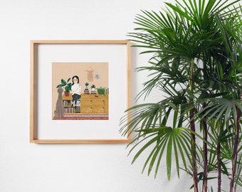 A girl & her doggo by Chloe Joyce Designs