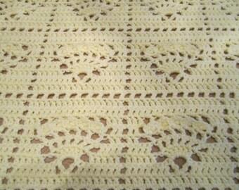 Crocheted Afghan - Cream Colored