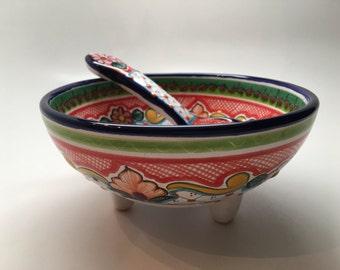 Talavera Salsa Bowl with Spoon