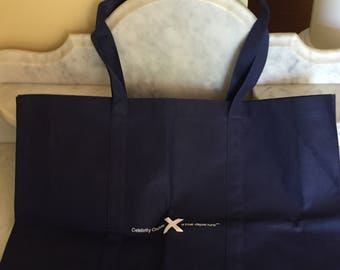 Vintage UNUSED Celebrity Cruises Canvas Tote Bag Beach Bag Large Navy Tote Bag Cruise Collectible Souvenir Bag Shopping Bag Gift Collectible