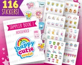 Muestrario libro 1 - labores domésticas/planificador pegatinas Filofax, Erin Condren, planificador feliz, Kawaii, Cute pegatina, Reino Unido