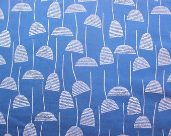 Cloud 9 Fabric / Eloise Renouf / Threads / Organic Cotton / Navy Blue / Quilting Crafting Sewing/ Supplies / Half Metre