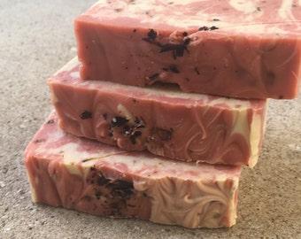 Hibiscus raspberry soap