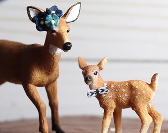 Woodland Baby Shower Boy Decorations Animal Baby Shower Deer Cake Topper  Doe Fawn Animal Cake Topper