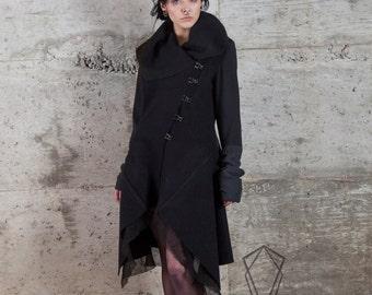 Night Ritual Jacket - Boiled wool hooded coat