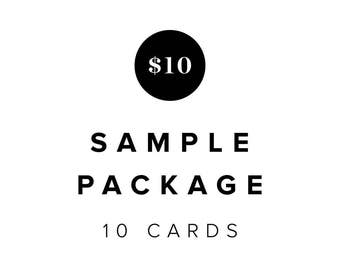 Sample Package of 10 Cards