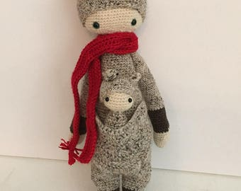 Crocheted Kangaroo - made to order