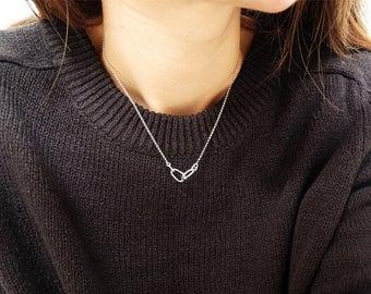 eternal love necklace, circle necklace, karma necklace, silver circle necklace, eternity necklace, simple necklace, circle pendant, circle