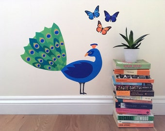 Elegant Peacock Wall Sticker, Peacock Decal, Peacock, Peacock Wall Decal, Peacock  Decoration, Part 23