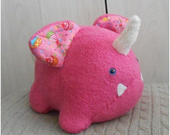 READY to SHIP;pink cupcake unicorn monster plush