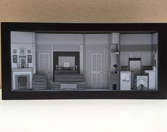 I Love Lucy Apartment set shadowbox diorama | I Love Lucy merchandise
