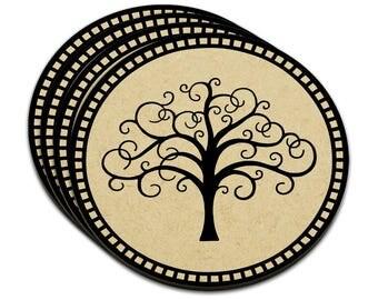 Tree Of Life Mdf Wood Coaster Set Of 4