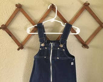 Blue Zipper Romper