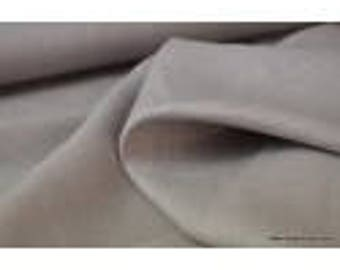Grey washed linen fabric for making x50cm