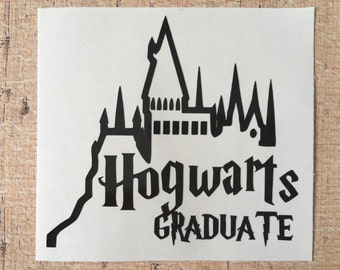Harry Potter Decal - Hogwarts Graduate Decal - Hogwarts Stickers - Laptop Decal - Car Window Decal - Water Bottle Decal - Yeti Decal