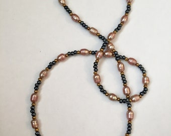 Long Fresh Water Pearl Beaded Necklace 28""