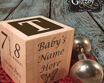 Unique baby gift etsy baby gift personalized block for baby boy or baby girl gift keepsake block personalized baby gift negle