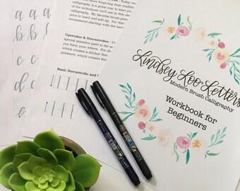 Brush Calligraphy Workbook for Beginners, Pens Optional